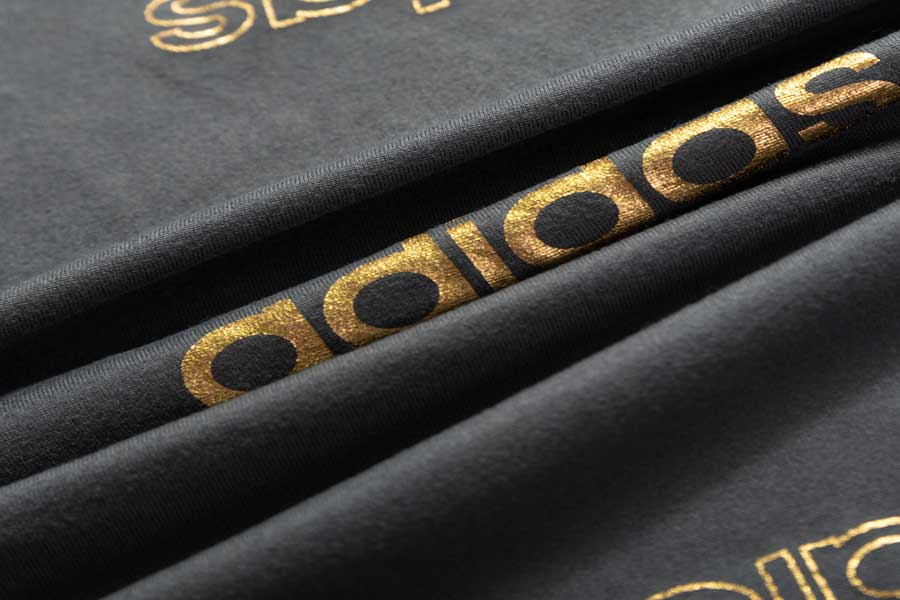 Micro Fiber(all direction stretch) with gold foil